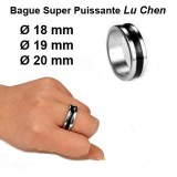 Strong Magnetic PK Ring Silver with Black circle