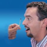 Cerilla que desaperece en la nariz