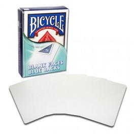 Bicycle 52 cartes faces blanches, dos Bleus