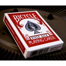 Bicycle Rider Back Rouge - jeu de cartes ancien modèle