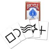 Cartes ESP Bicycle rouge avec 5 symboles