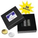 30 Aimants néodymes Ronds 22mm x 1mm