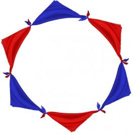Cercle de 6 foulards magique